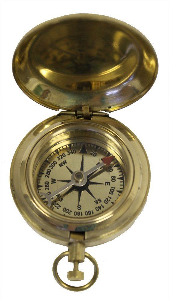 Brass Handicraft Pocket Compass Image