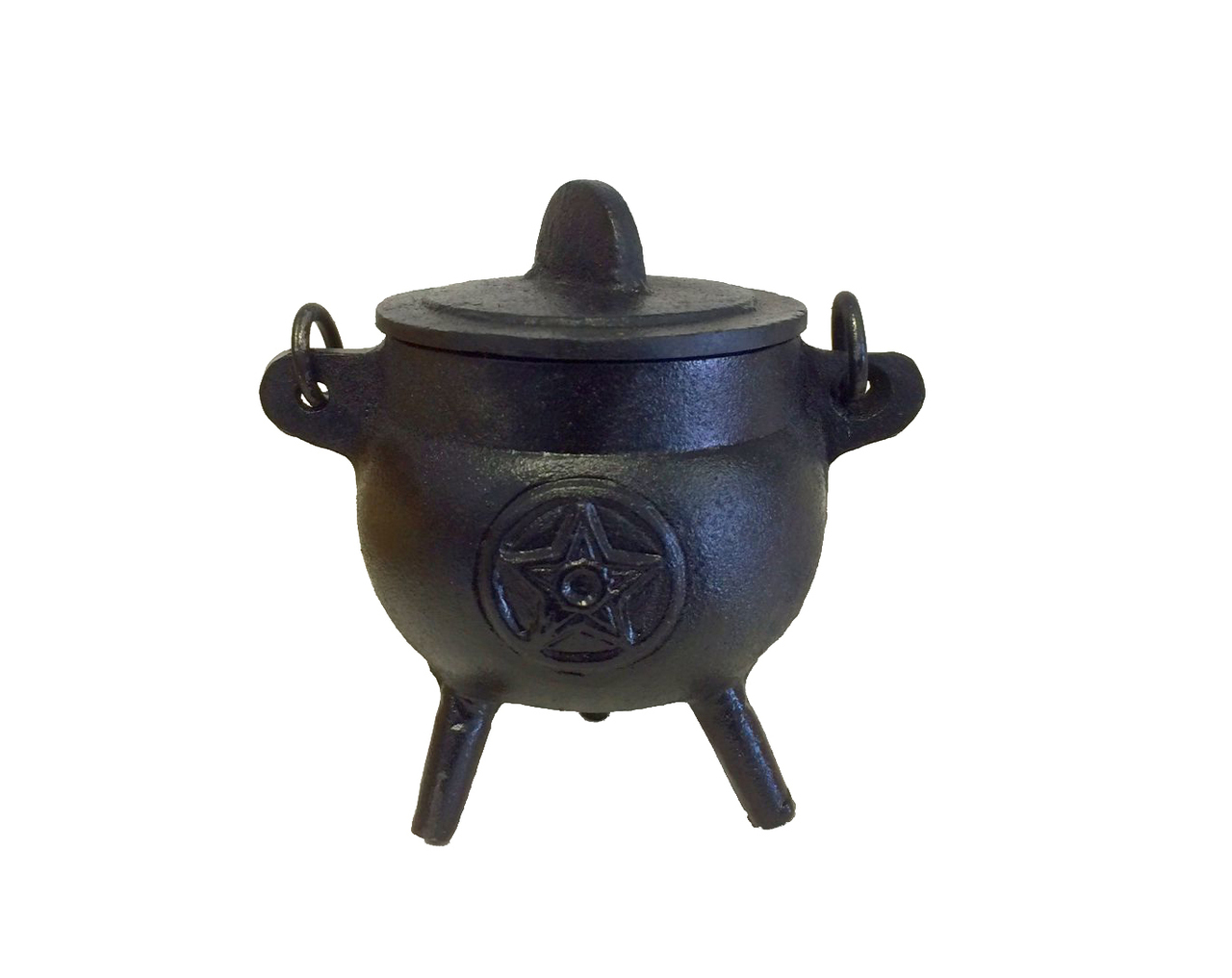 Cast Iron Cauldron Burner with Lid Image