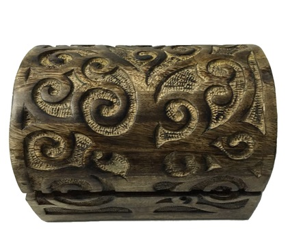 Curved Tree of Life Wood Box Image