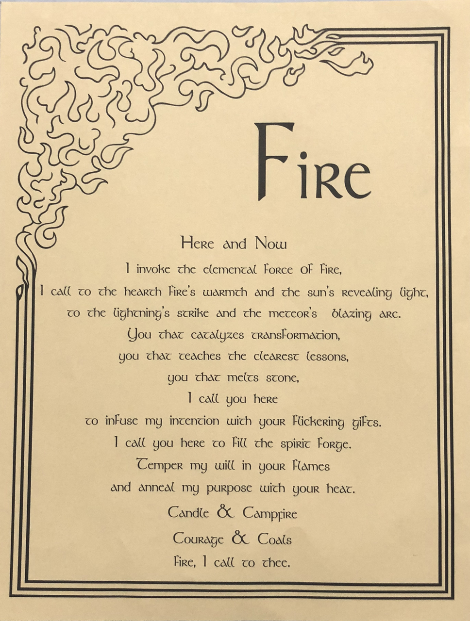 Fire Prayer Poster Image