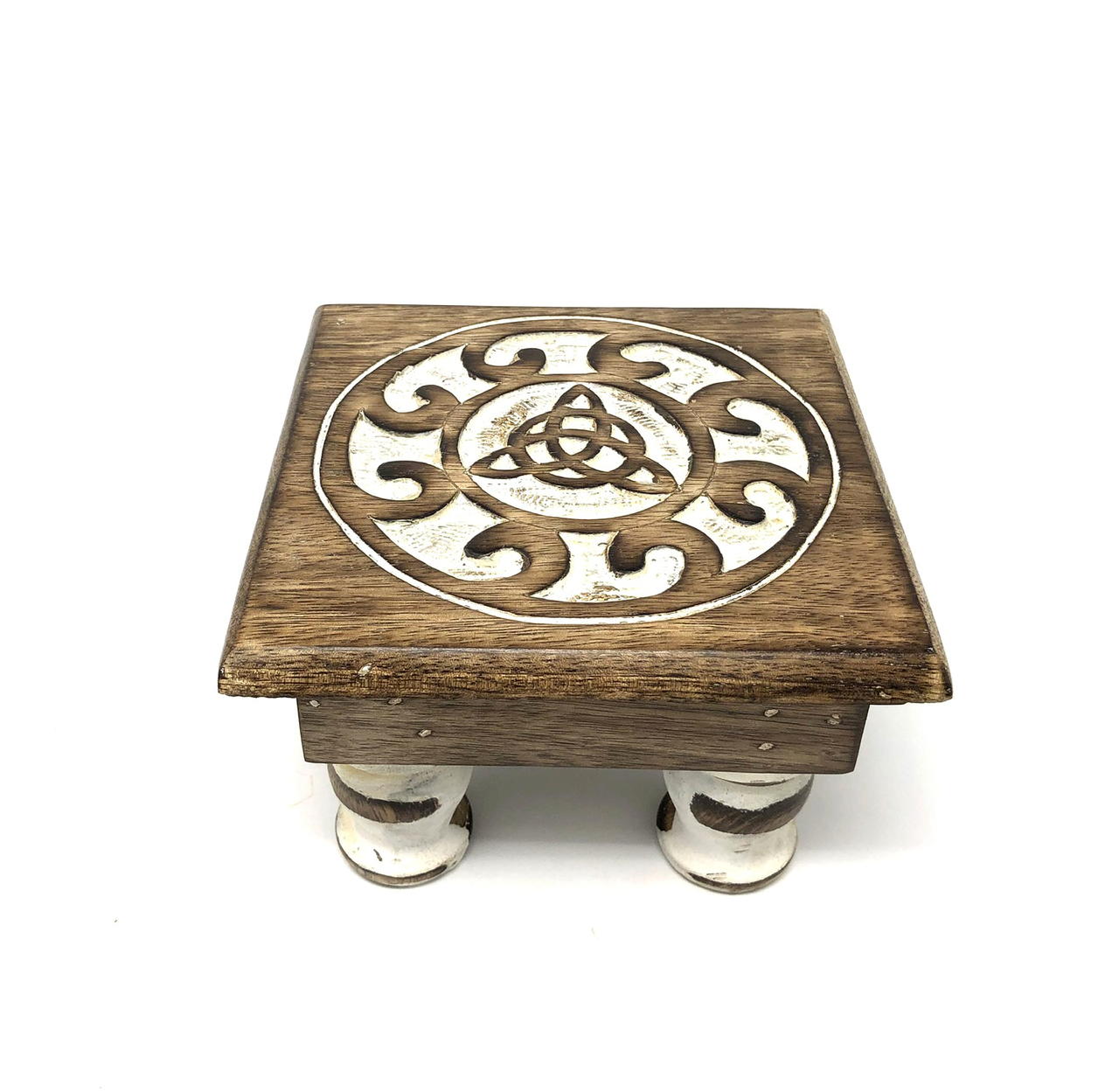 Wood Altar Table Triquetra Image